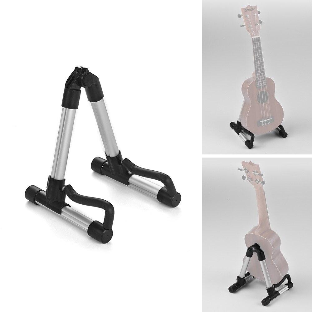 Portable Ukulele Stand Ukelele Uke Holder A-Frame Aluminum Alloy Guitar Accessories For 18-26 Inches Ukuleles