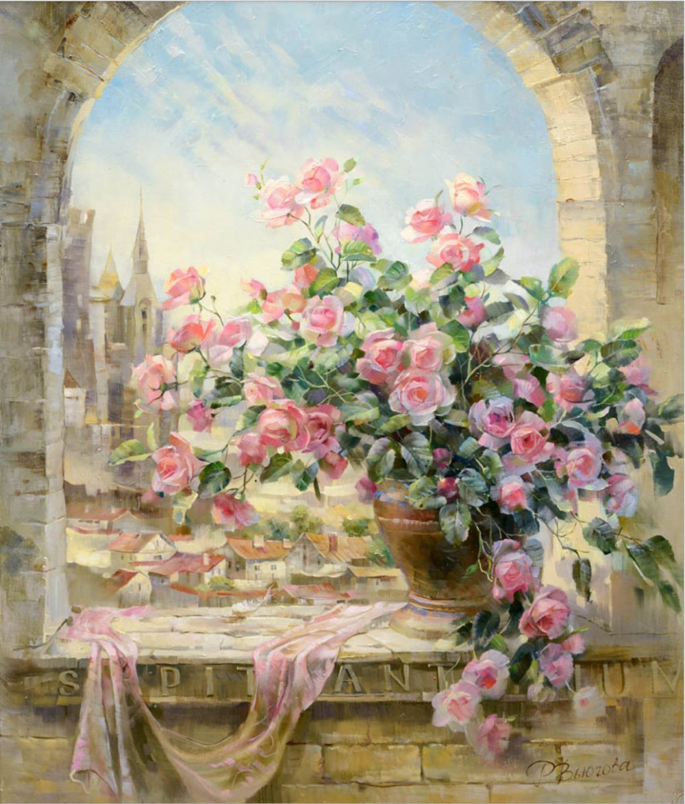 ᐊVentana de La Flor pintura por números cuadros decoración arte de ...