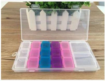 Creative electronic components jewelry multi-function combination storage box transparent plastic Storage Boxes Bins 5pcs/lot