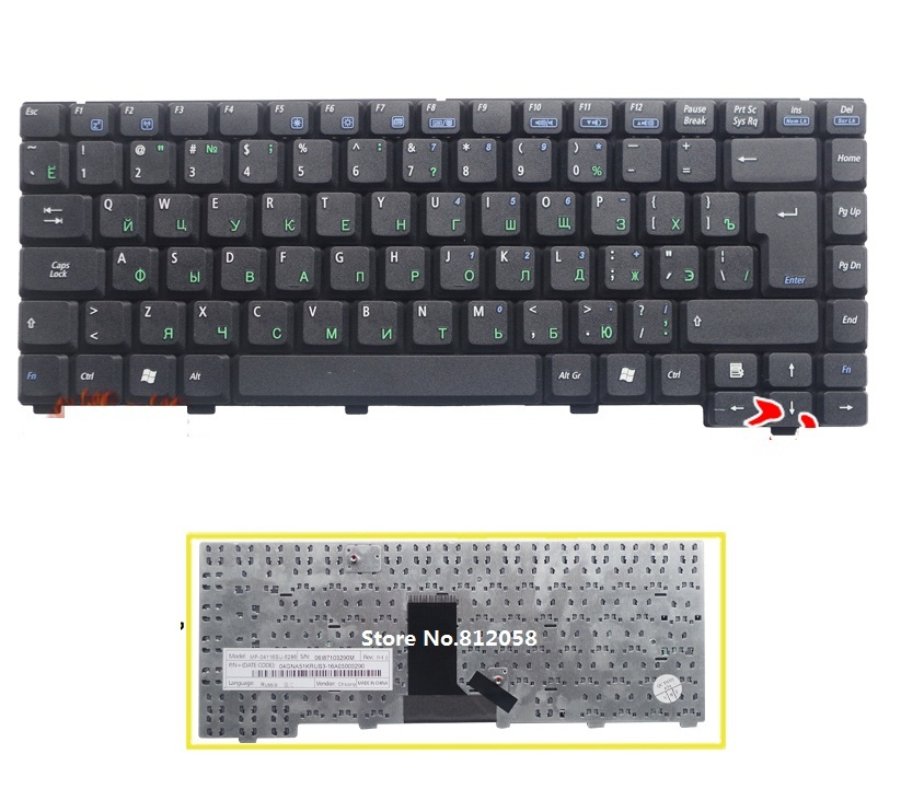 SSEA New Russian Keyboard Black for <font><b>ASUS</b></font> A3 A3L A3G A6000 <font><b>A3000</b></font> A6000VM A6000V A6J A9 Z91 Z81 laptop RU Keyboard image