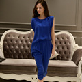 Dabuwawa regular royal blue sleeveless jumpsuit