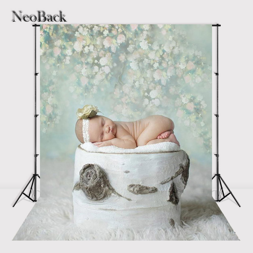 NeoBack Black Friday 5x7ft New Born Baby Green Tone Thin Vinyl Photographic Backgrounds Photo Studio Children Backdrops B0001