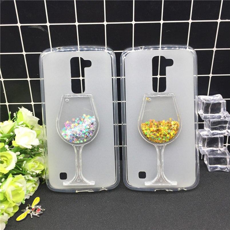 Poudre Étoiles Dynamique Quicksand Téléphone Cas pour LG Magna H500 G4C G4 mini H525N C90 H520N H502F H500F Cas Clair Tasse Couverture