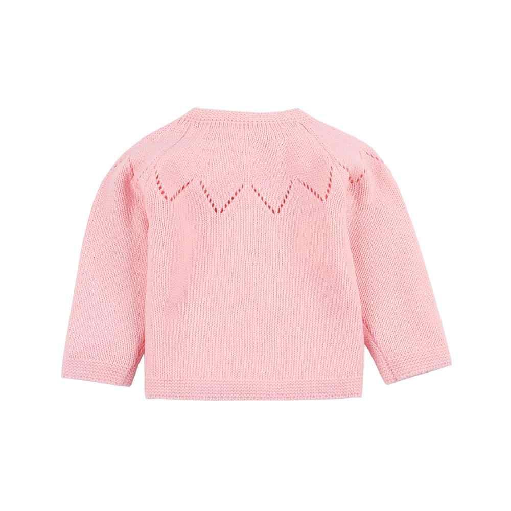 Свитера ярких цветов для маленьких девочек, кардиганы с длинными рукавами, осенняя серая верхняя одежда, вязаные топы для малышей, 2019 г., детское трикотажное пальто
