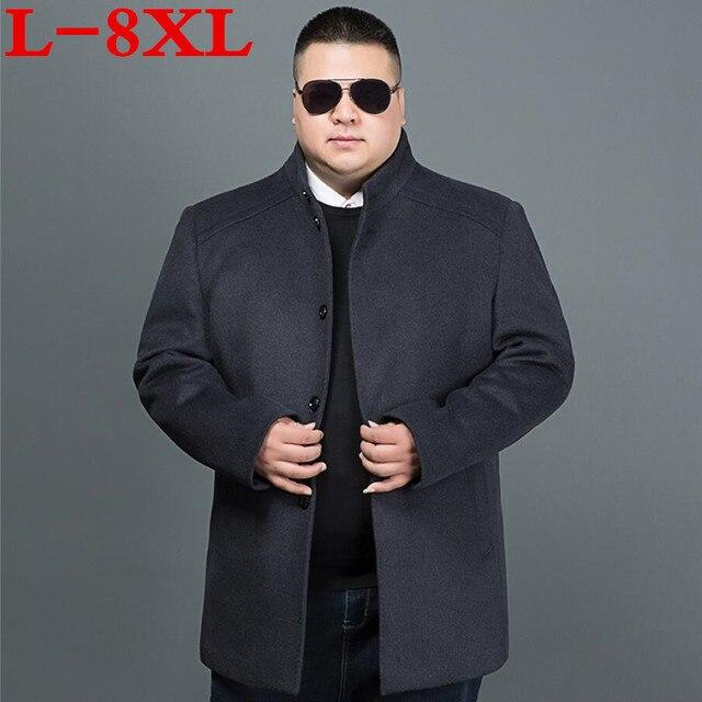e17d5296143 2017 new plus size 8XL 7XL Winter Jacket Men Thickening Wool Coat Fit  Jackets Outerwear Warm Man Casual Jacket Overcoat Pea Coat