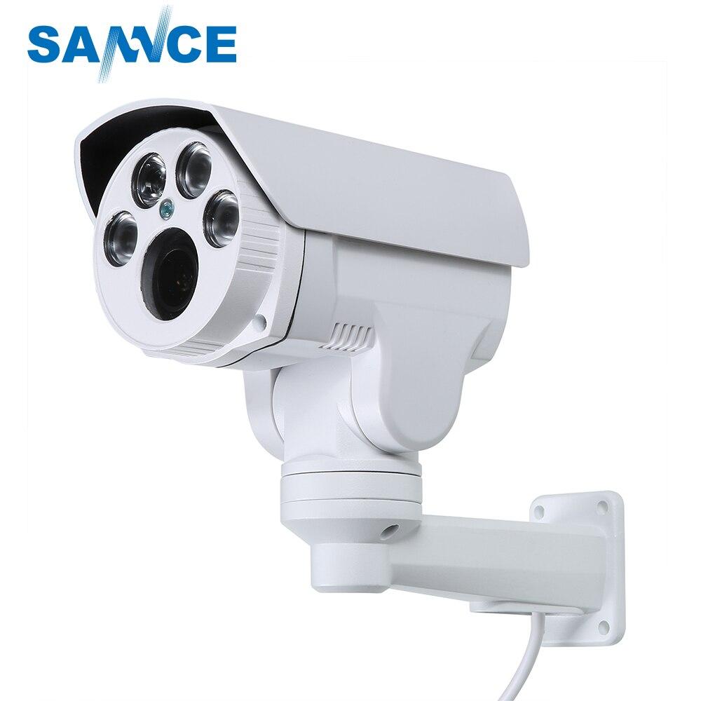 SANNCE AHD Full HD 1080 P Caméra 4in1 Autofocus À Focale Variable 2.8-12mm Numérique 4X Zoom Pan/Tilt Bullet PTZ Caméra IP66 Dans/extérieure