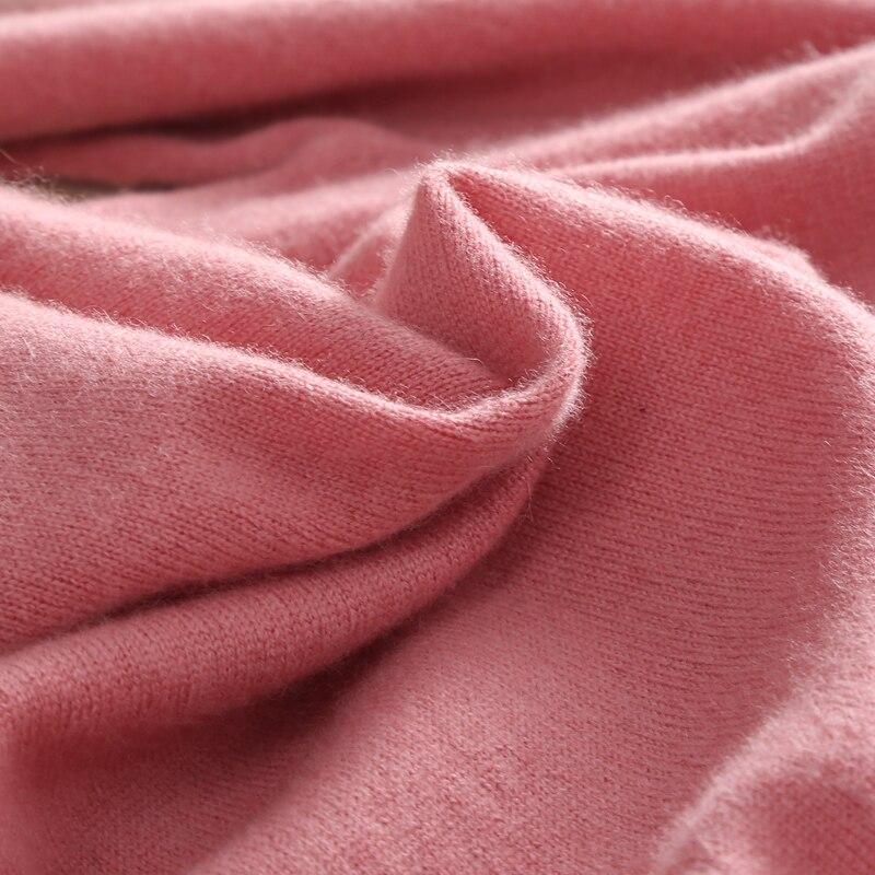 Mode Col Femmes Chandail Couleur noir Solide Mince En Hiver Doux Tricoté Cachemire Roulé Femme Chaud rose Beige Automne gris Pull AqYX5x