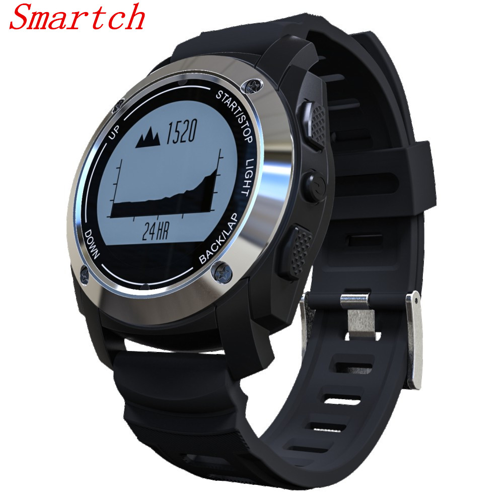 Smartch New S928 GPS Outdoor Sports Smart Watch IP66 Life Waterproof with Heart Rate Monitor Pressure for Android4.3 IOS8.0 abov s928 gps outdoor sports smart watch men wristband waterproof heart rate monitor altitude meter for android ios vs gt08 dz09