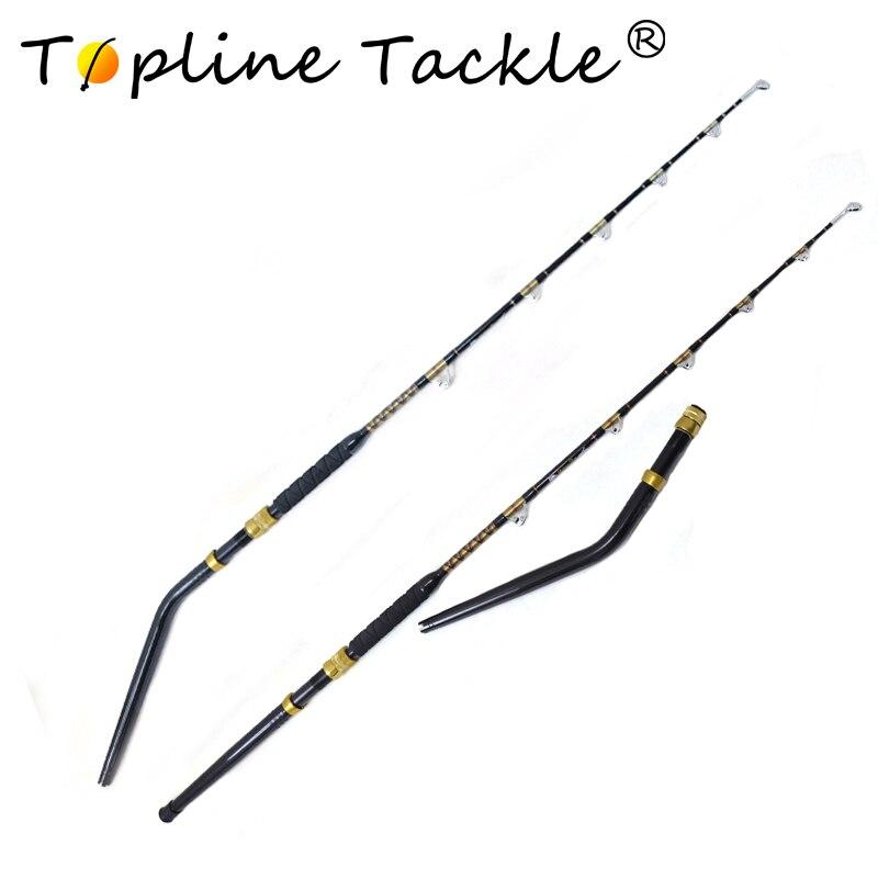 Topline S'attaquer Haute Teneur En Carbone forte puissance renforcer guides grand jeu tige à la traîne tige 80lb 100lbs 6'6 alu bateau tige canne à pêche