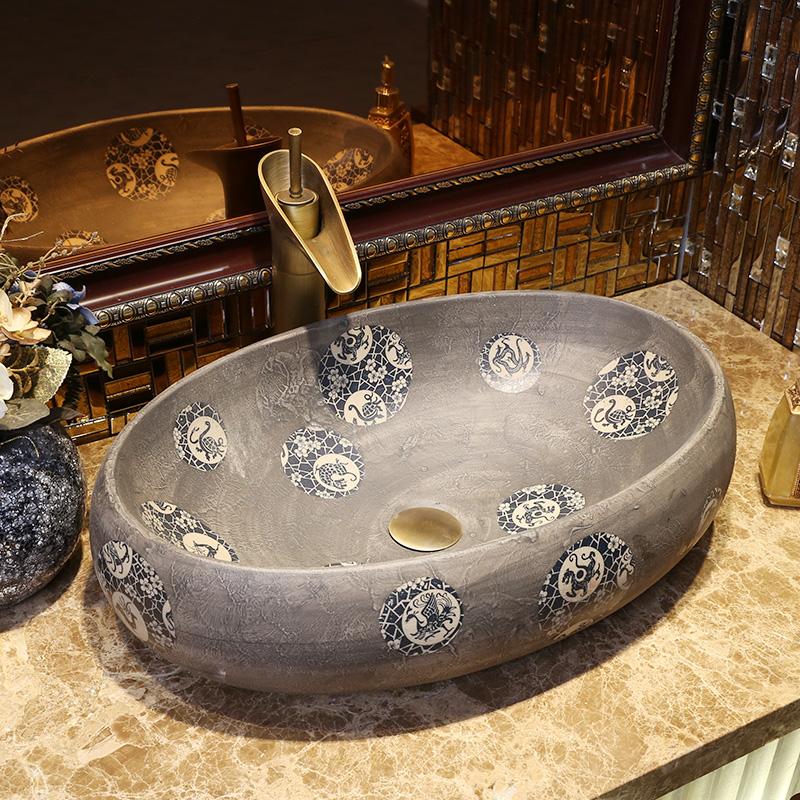 China Kunstlerische Europa Stil Zahler Top Porzellan Waschbecken