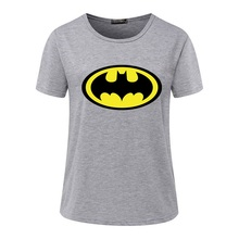 Women's t Shirt Brand New Fashion Batman Print Casual Short Sleeve O-Neck Loose t-shirts Tops Plus Size