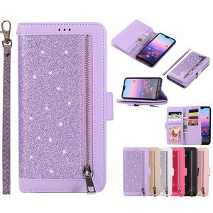 Image 5 - Huawei社P40 P30 プロP20 liteのケースフリップカバーグリッタージッパー財布電話ケースhuawei社メイト 30 20 lite 10 プロ磁気革ケース