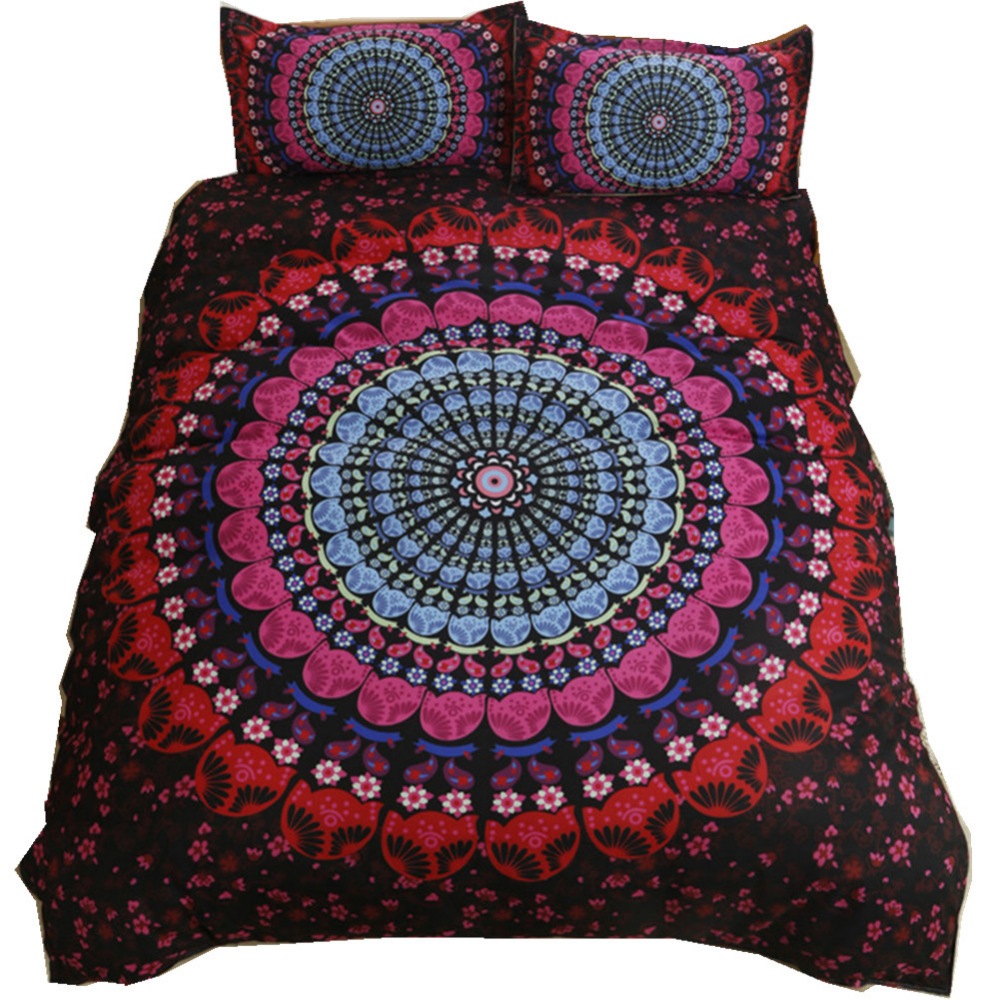 2 3 Stücke Vintage Kobaltblau Mandala Bettdecke Bettbezug Set Hippie Gypsy Bohemian Mandala Floral Bettwäsche Paisley Bettwäsche Set Bedding Set Paisley Bedding Setscover Set Aliexpress