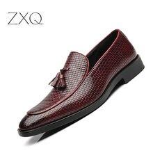 Tassel Men Loafers Luxury Brand Comfort Elegant Weaving Men Dress Shoes Men's Flats Casual Shoes For Man Plus Size 38-48 цены онлайн
