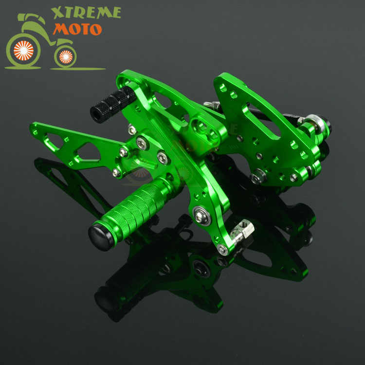CNC Adjustable Motorcycle Billet Foot Pegs Pedals Rest For KAWASAKI Z1000 2011-2016 2011 2012 2013 2014 2015 2016