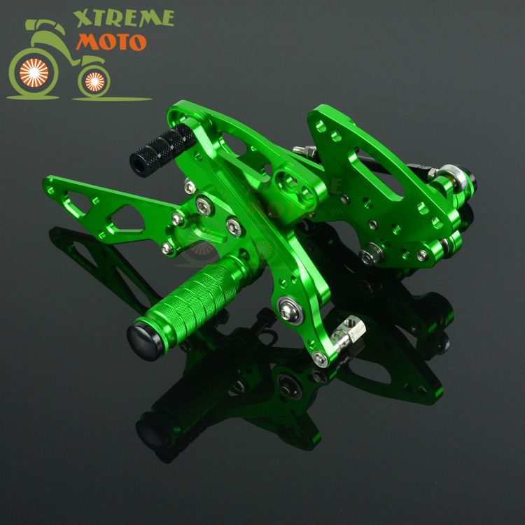 CNC Adjustable Motorcycle Billet Foot Pegs Pedals Rest For KAWASAKI Z1000 2011-2016 2011 2012 2013 2014 2015 2016 2pcs bicycle plastic wheel pedals axle foot pegs