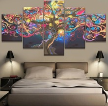 Framed 5 Piece Canvas Art Tree Of Life Cuadros Decoracion Paintings on Wall for Home Decorations Decor Artwork