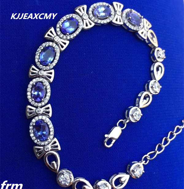 KJJEAXCMY Fine jewelry Natural rock girl Bracelet 925 sterling silver inlaid classic elegant bow knot style hot sell 2016 hot sell classic 100