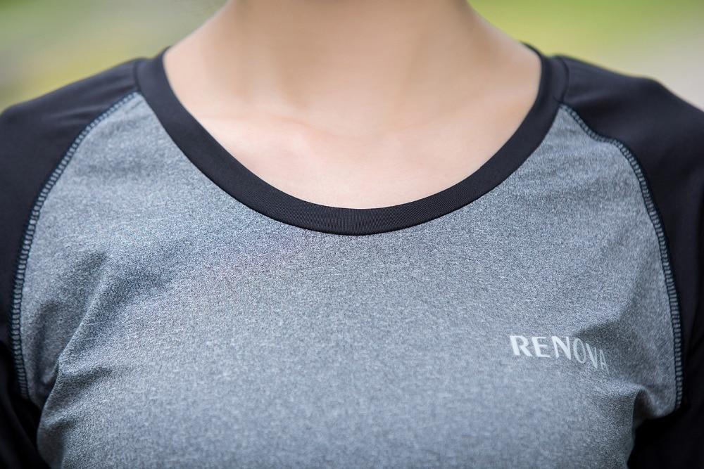 ff9b31803 Autumn Winter Women Fitness Sportswear Long sleeve Training T shirts  Patchwork Womans Workout Shirts Yoga JoggersTops roupas on Aliexpress.com