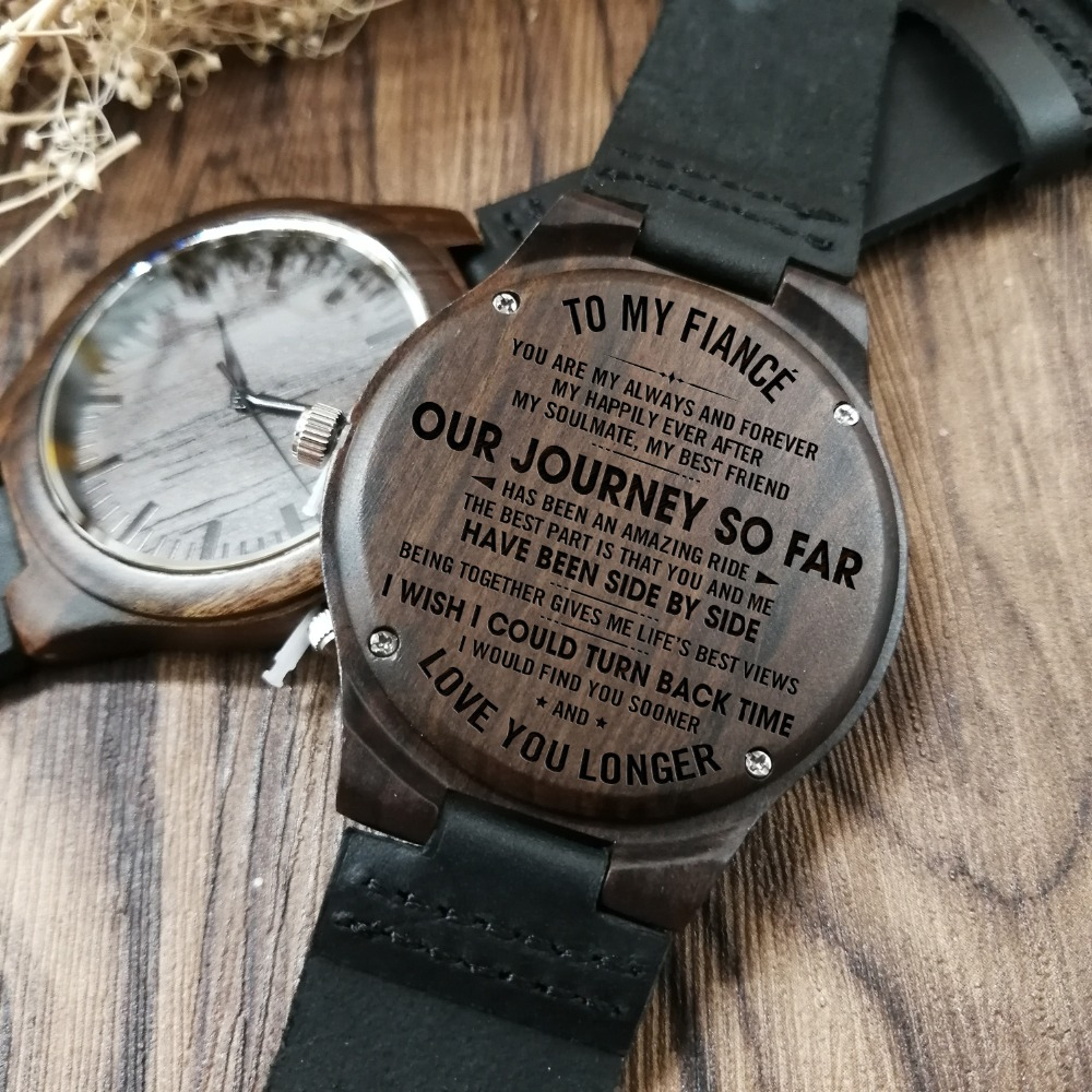 Watches To My Husband-i Am Proud To Be Your Wife Engraved Wooden Watch Men Watch Luxury Watches Birthday Holiday Anniversary Gifts
