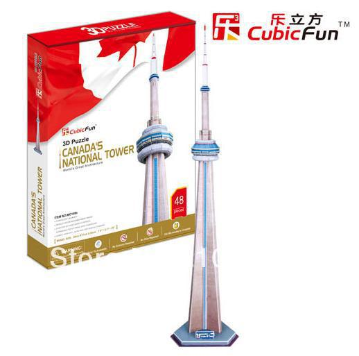 CN Tower Tower CubicFun 3D educational puzzle Paper & EPS Model Papercraft Home Adornment for christmas birthday gift series s 3d puzzle paper diy papercraft double decker bus eiffel tower titanic tower bridge empire state building