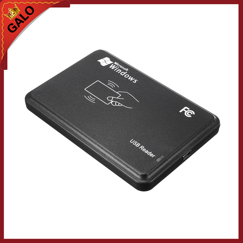New Black USB RFID Contactless Sensor 13.56MHz Smart rfid NFC Card Reader