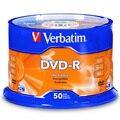 Verbatim DVD-R 4,7 ГБ 16X 50PK шпиндель фирменный записываемый медиа-диск компактный запись один раз хранилище данных DVD 95101
