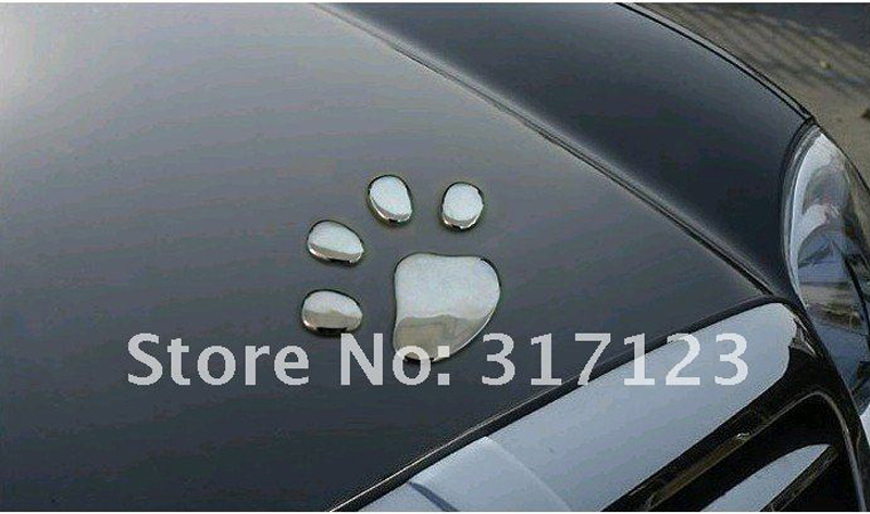 120 пар/лот) 3d собаки Авто Наклейки надписи знак черный автомобиль укладки автомобильные аксессуары