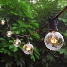 G40 גלוב חג מולד מחרוזת אור מסיבת פיות זר חתונת מסיבת גן עץ רחוב פטיו אורות פיות בציר נורות חיצוני