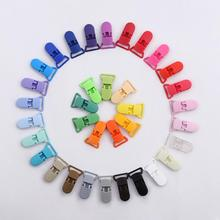 10Pcs Baby Plastic Pacifier Clip Holder Soother Mam Infant Dummy Clips Chain For 20mm Ribbon Toddler Transparent Clip