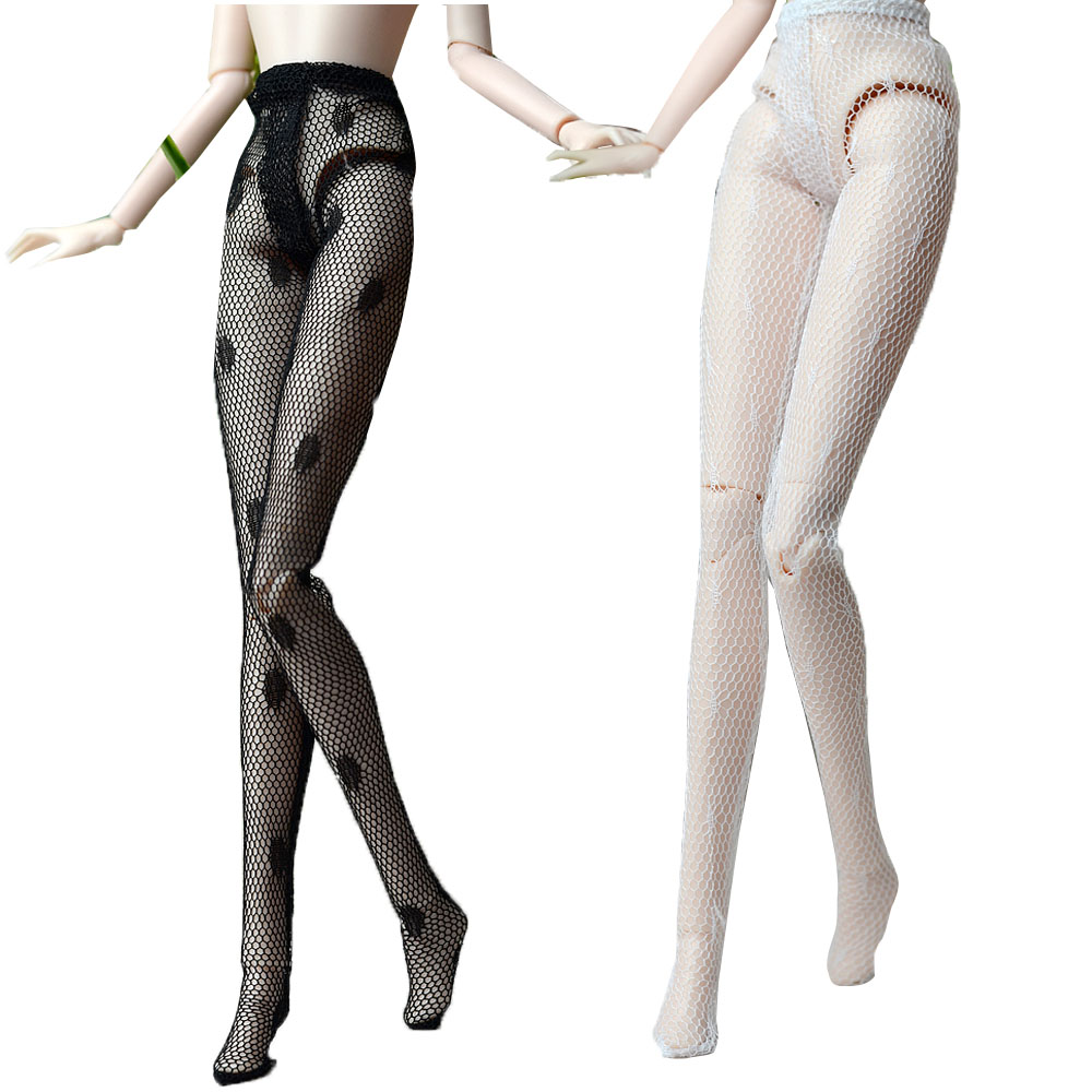NK 2 Pair/Set  Doll  Stocking Sex Lace Doll Accesssories Fashion Leather Trousers Legging For Barbie Doll Baby Toys  Gift 04A
