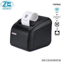 Impressora térmica de 58mm desktop wifi com cortador automático serial usb ethernet cashdrawer interfaces pequena bilhete impressora