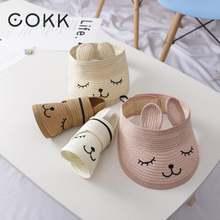 Детская соломенная шляпа cokk летние шапки для маленьких мальчиков