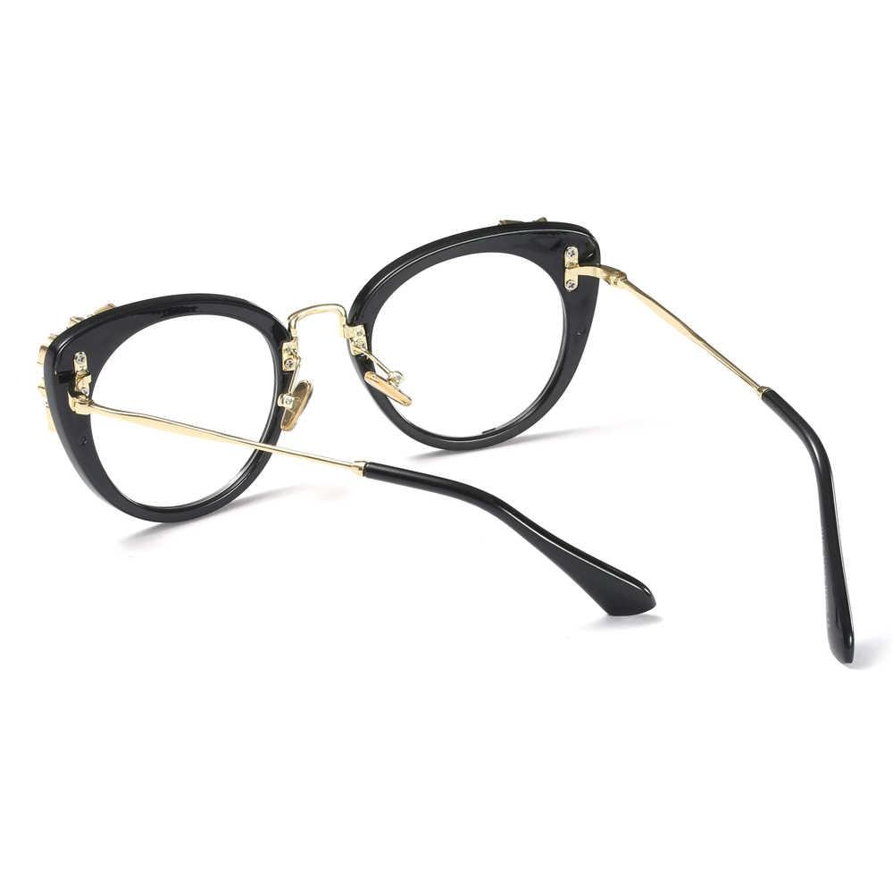 2e411c85f56 ... Peekaboo transparent crystal cat eye glasses frames for women designer  brand 2019 women s luxury eyeglasses rhinestones ...