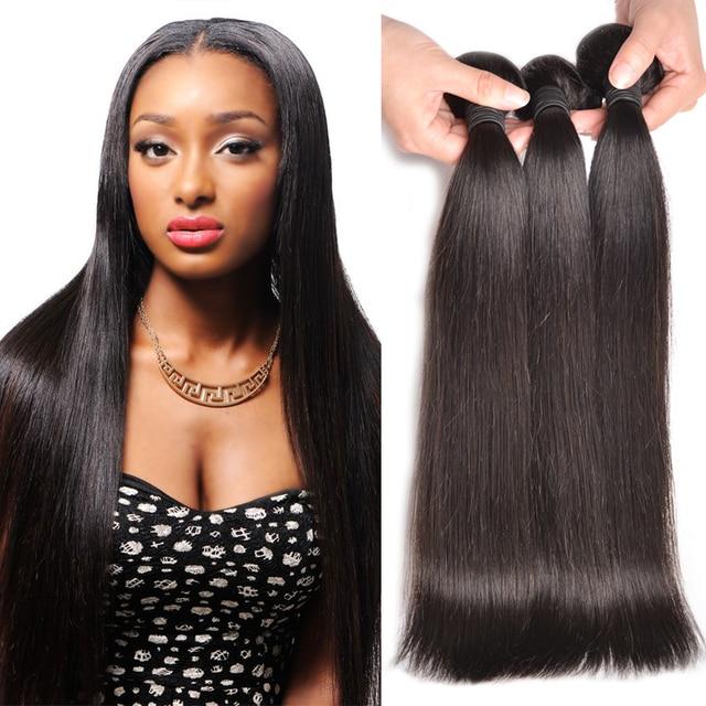 7A Brazilian Virgin Hair Straight 3 Bundles Brazilian Straight Hair Alionly Straight Brazilian Hair Weave Bundles Human Hair