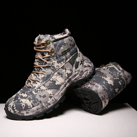 cunge Mens Outdoor High Quality Brand Hiking Shoes Tactical boots Winter army Sport Trekking Climbing Athletic Shoes camouflage