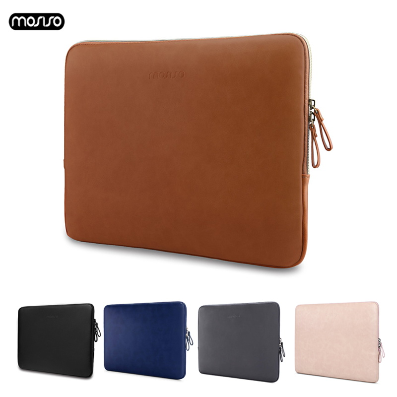 MOSISO PU Leather Laptop Sleeve for MacBook Air 13 inch Water resistant Notebook Case for MacBook Pro 13 Retina 13 Laptop Bag Ca-in Laptop Bags & Cases from Computer & Office