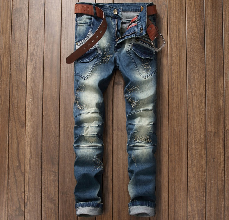 European American Style 2016 fashion brand men jeans pants luxury Mens denim trousers ca ...