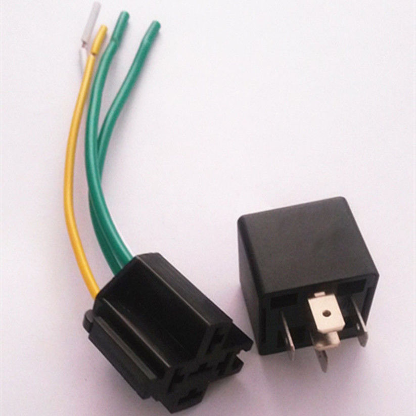 1 Pc New 40a 12v 5 Prong Car Relay With Wiring Harness