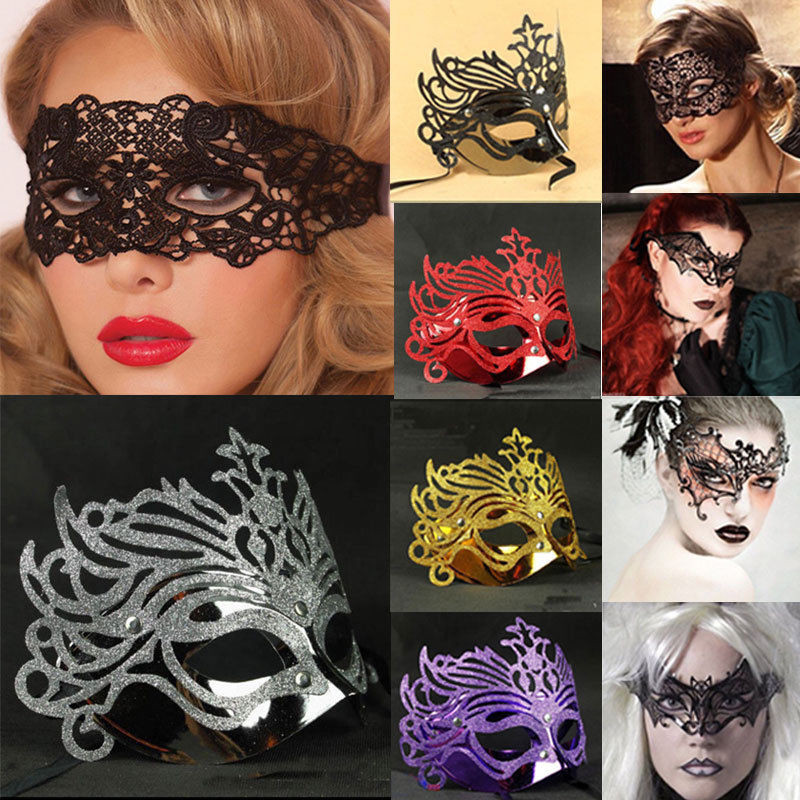 <font><b>Sexy</b></font> Lace Eye Masks Black Lace Venetian Masquerade Ball <font><b>Halloween</b></font> Party Fancy Dress Costume Party Masks for <font><b>Women</b></font> image