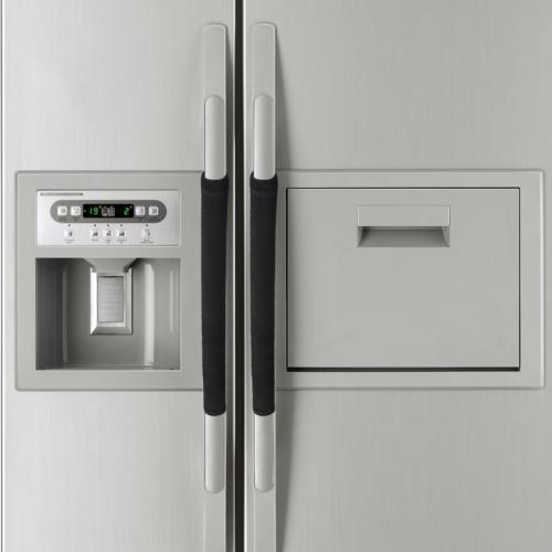 2 PCS Kitchen Appliance Handle Cover Decor Smudges Door Refrigerator Fridge Oven