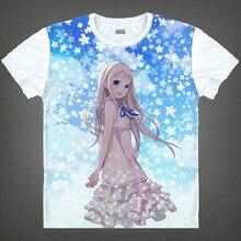 Envío Gratis ANOHANA Honma Meiko Menma Anime manga T-shirt Las Mujeres de Los Hombres Cosplay Camiseta Camiseta De Malla 002