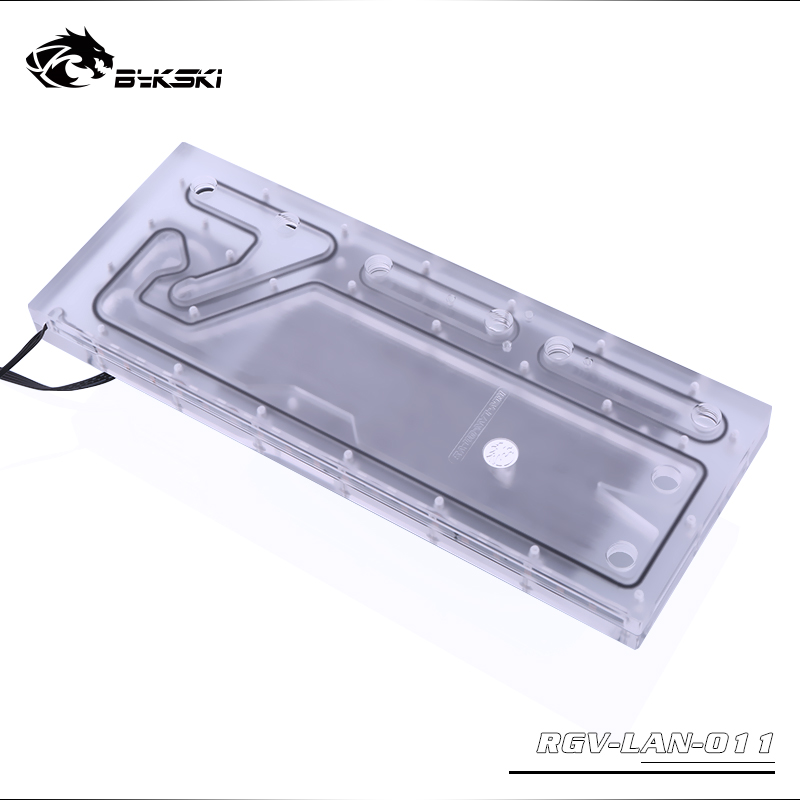 Bykski RGV-LAN-O11, Waterway Boards Kit For Lian Li PC-O11 Dynamic Case, RBW Waterway Board CPU/GPU Water Block Program Kit