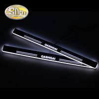 SNCN 4PCS Acrylic Moving LED Welcome Pedal Car Scuff Plate Pedal Door Sill Pathway Light For Nissan Qashqai J11 2016 2017 2018