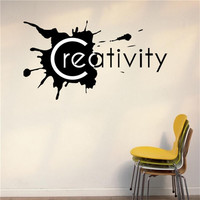 Creativity Wall Lettering Words Removable Office Room Decor Decal Vinyl Quote Wall Sticker Home Decoration Living Room