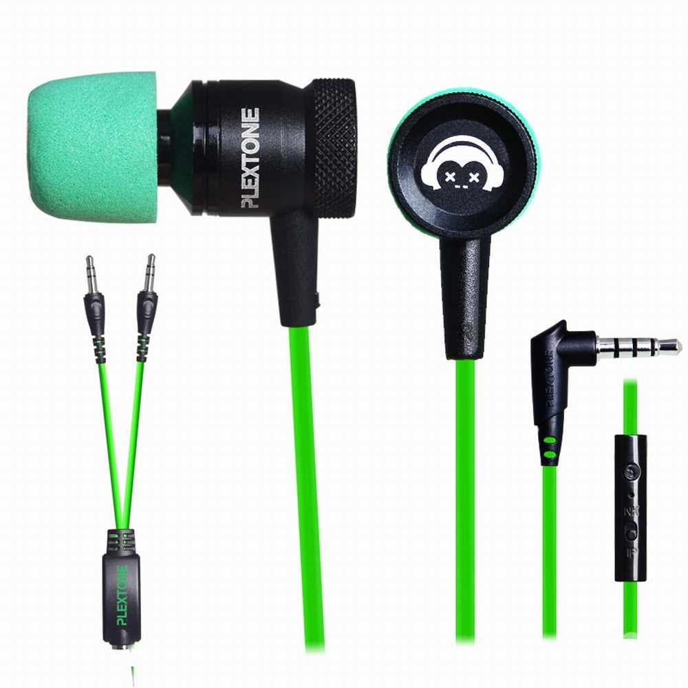 Professional Gaming In-Ear Earphone PLEXTONE G10 Noise Cancelling Earphones With Super Soft Memory Foam Mic For Phones Computer