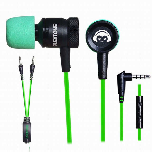 f49d90d3a17 Professional Gaming In-Ear Earphone PLEXTONE G10 Noise Cancelling Earphones  With Super Soft Memory Foam Mic For Phones Computer