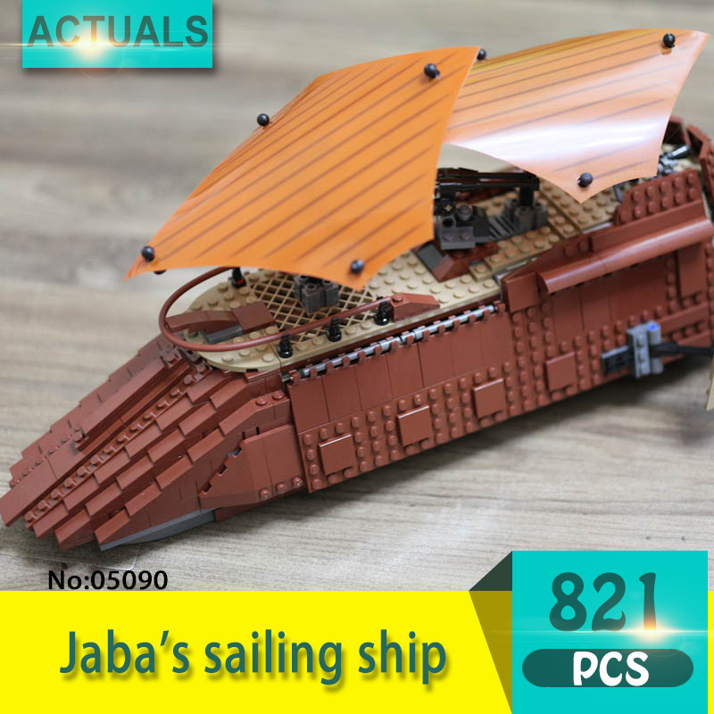 Lepin 05090 821Pcs Jaba's sailing ship Model Building Blocks Set  Bricks Toys For Children Gift Action figures 6210 free shipping voyager 2 4g mini rc sailboat sailing electric ship model yacht handmade boat toys children gift