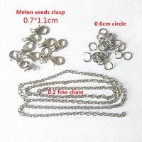 10 Piece Melon Seeds Clasp 10 Piece Circle 10Piece Fine Chain Accessories Can Make 10 Piece