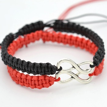 Bracelet Infini Paar Pourpre et Noir